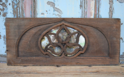 Architectural Panel with Lotus Flower & Antique Mirror